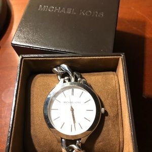 Michael Kors Jewelry - SALE!⏱Michael Kors silver watch NIB⏱🎁
